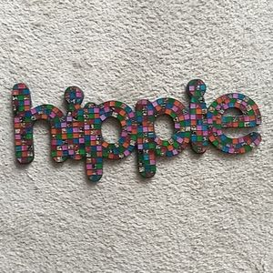 Mosaic hippie wall hanging